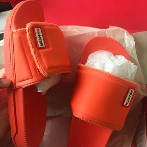 Orange Hunter Slides